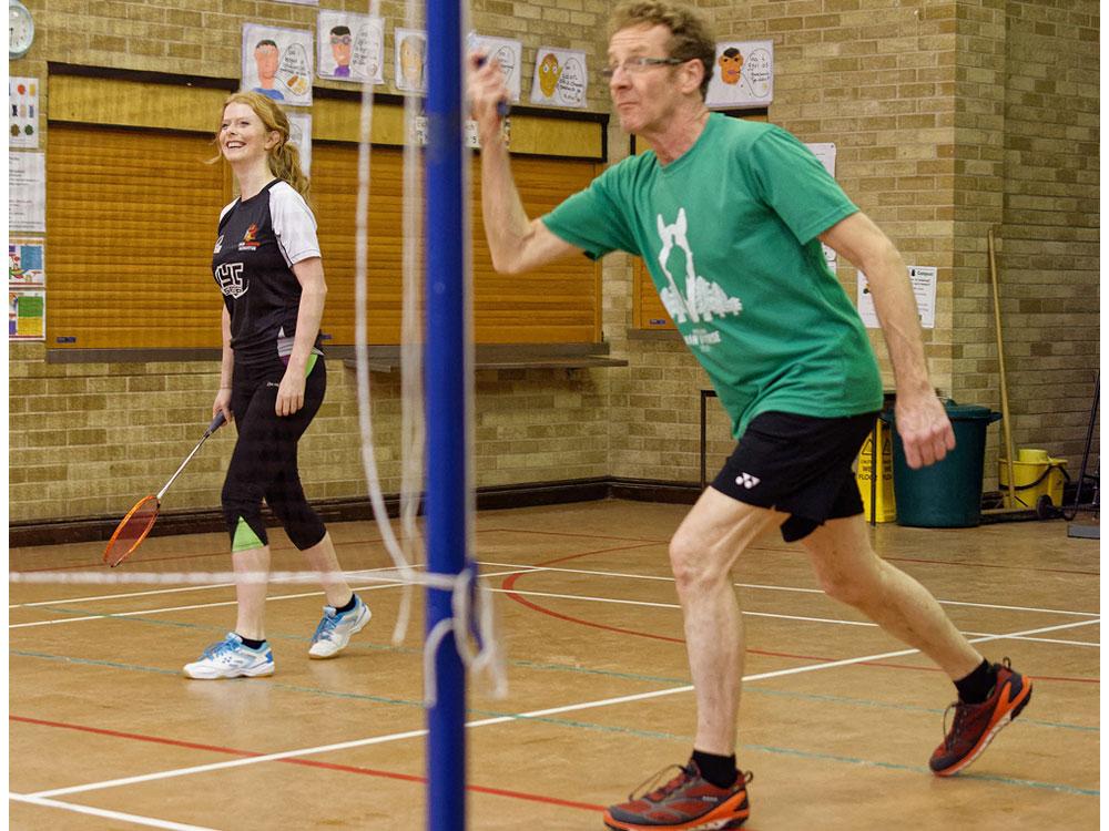 Badminton club in Bromsgrove Hall