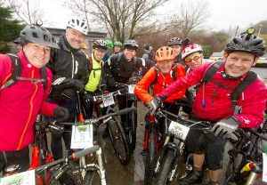 Real Ale Wobble racing cyclists at Llanwrtyd's Beer Festival