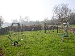 A playground at Dolwen Field, Llanwrtyd Wells for primary school children