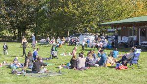A teddy bear picnic for families in Dolwen Field, Llanwrtyd Wells.