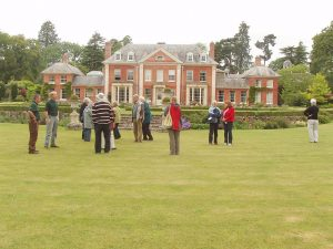 Visit by Gardening Club members to Newport House, Almeley, Herefordshire in about 2012