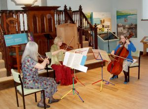 Llanwrtyd Wells string trio in concert in the Heritage and Arts Centre.