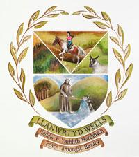 Llanwrtyd Wells town crest