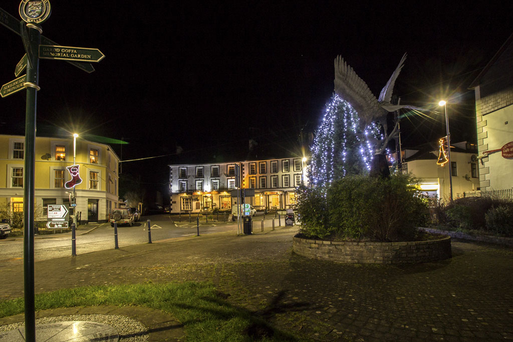 Llanwrtyd Wells Christmas lights