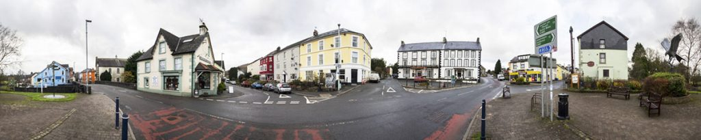 Llanwrtyd town centre panorama