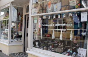 Exterior of Lorraine's Alterations shop, Llanmwrtyd