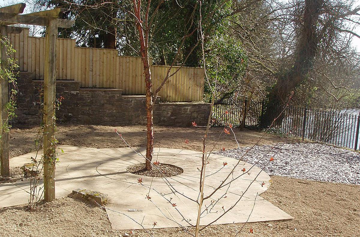 Llanwrtyd Memorial Garden under construction