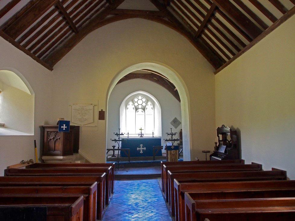 Interior of St David's Old Parish Church