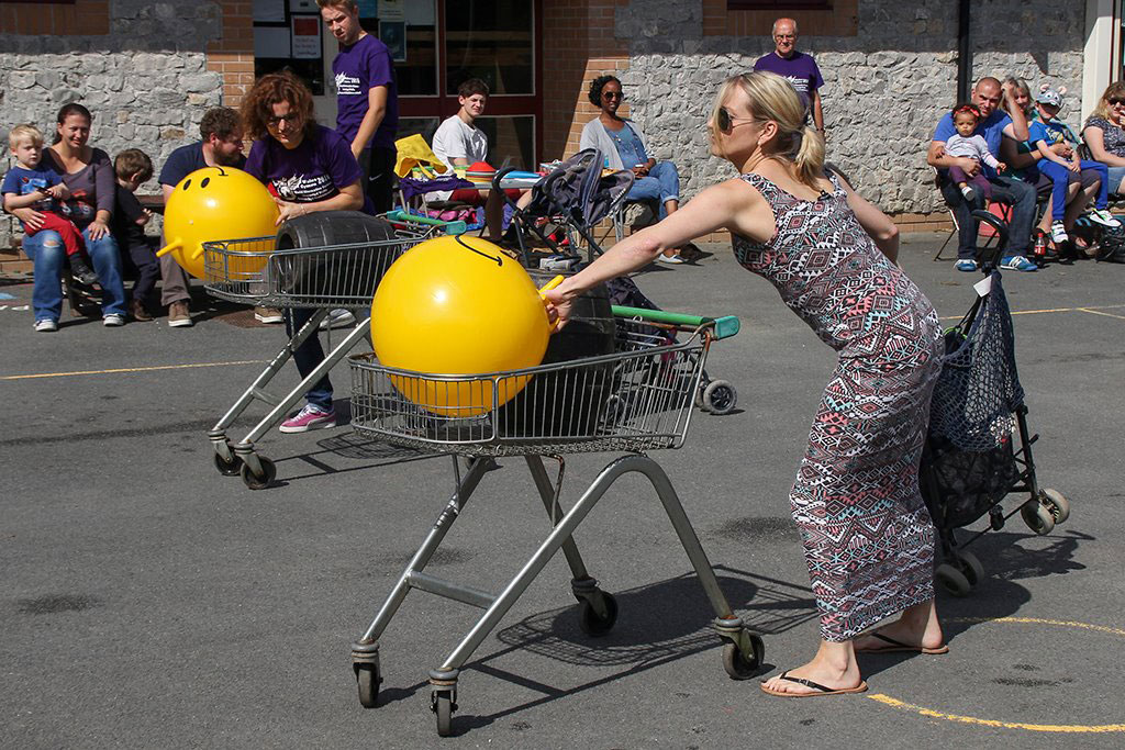 Shopping trolley race