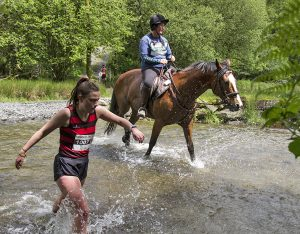 runners, horses, man v horse, trail race, extreme sports