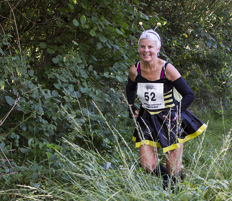 Fancy Dress in the Llanwrtyd Wells Bog Triathlon.