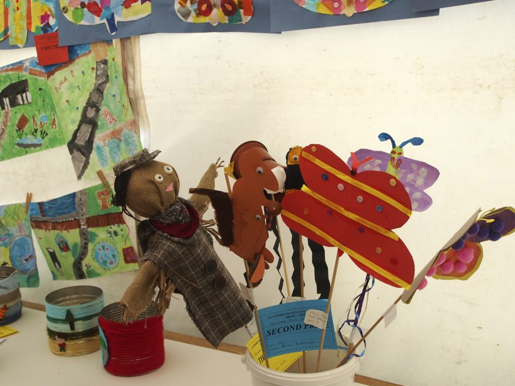 Llanwrtyd Wells Show Children's section decorative sticks.