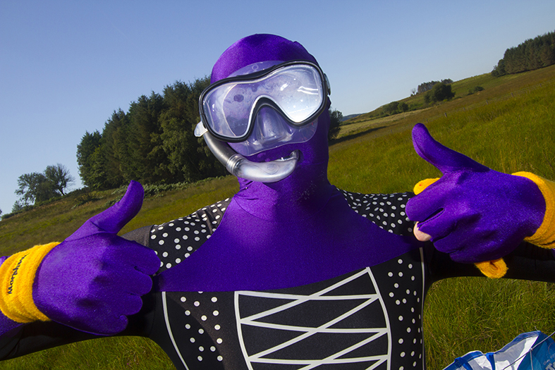 Fancy Dress competitor at Rude Health Bog Snorkelling championships