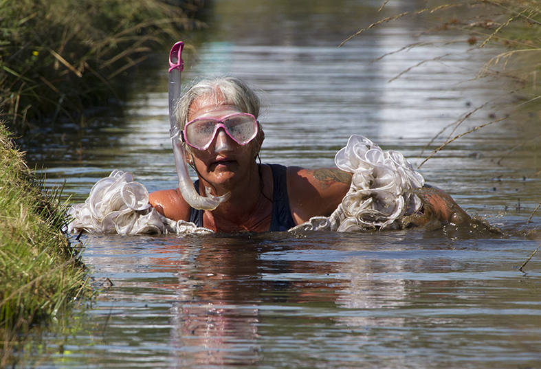Fancy dress in bog snorkelling