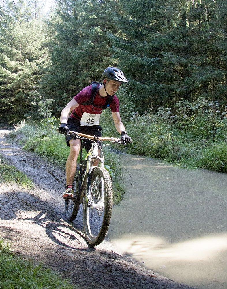 Cyclists complete 12 miles in the Llanwrtyd Wells Bog Triathlon