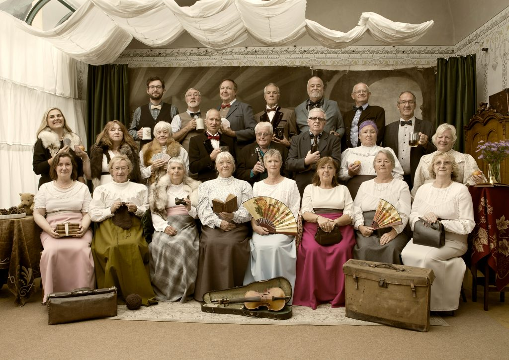 Show Victorian re-creation studio picture.