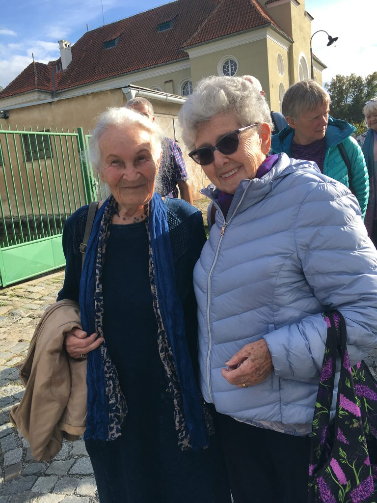 Portrait of Czech women, both were on the Kinder Transport.