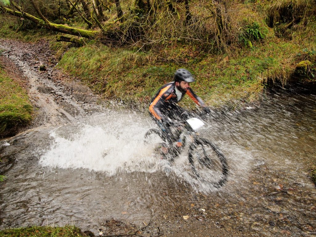 Action picture of a rider in the Real Ale Wobble