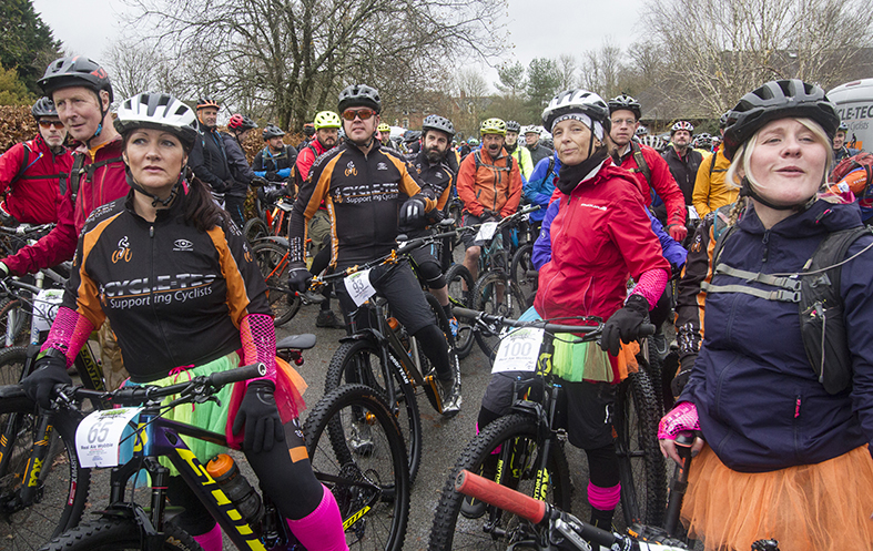 Showing the start line at the Real Ale Wobble