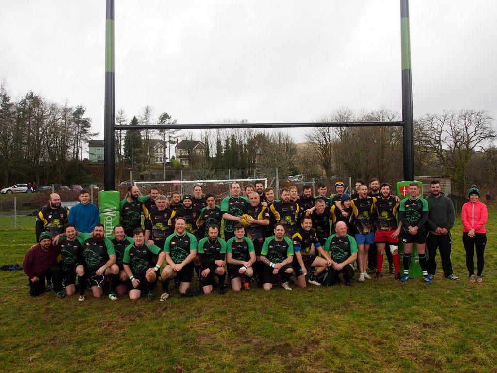 Showing Rugby teams at Dolwen Field, Llanwrtyd Wells