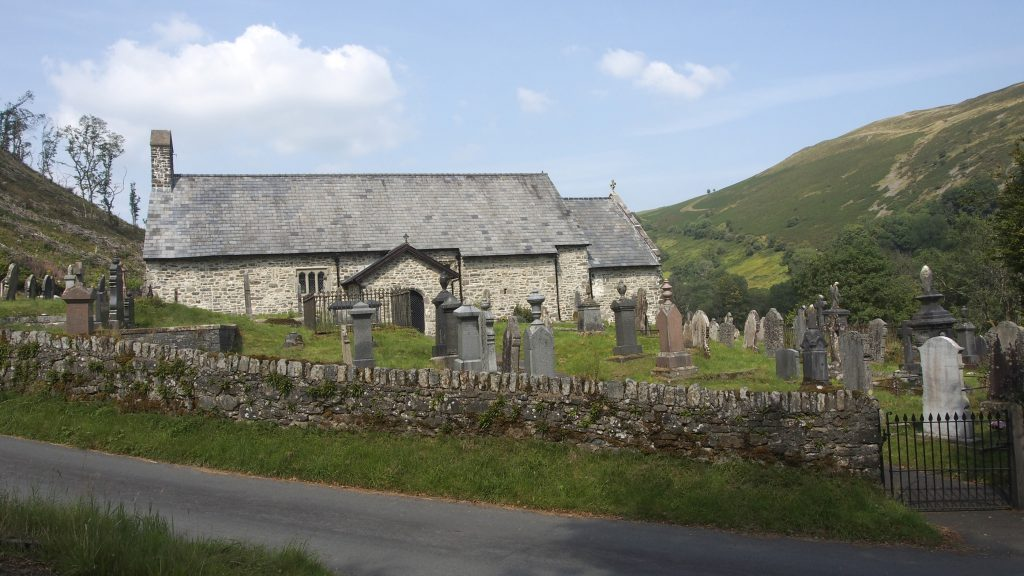 The exterior of St David's Church, Llanwrtyd.