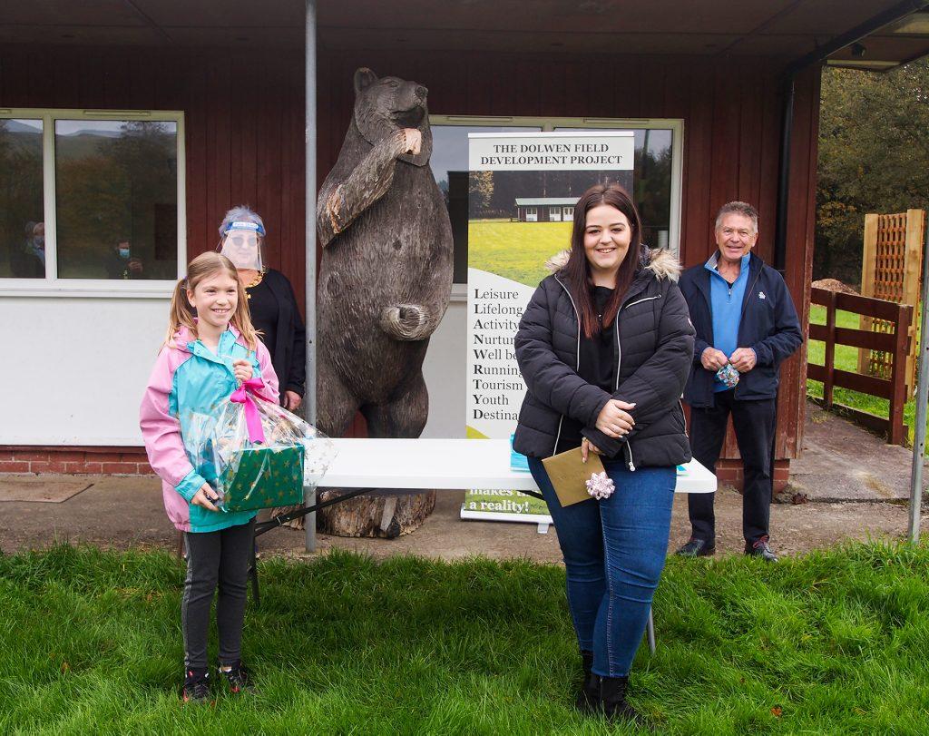 The garden design prize winners at Dolwen Field