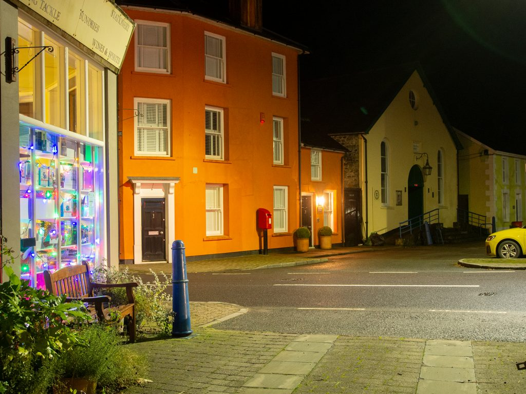 Llanwrtyd streets at night