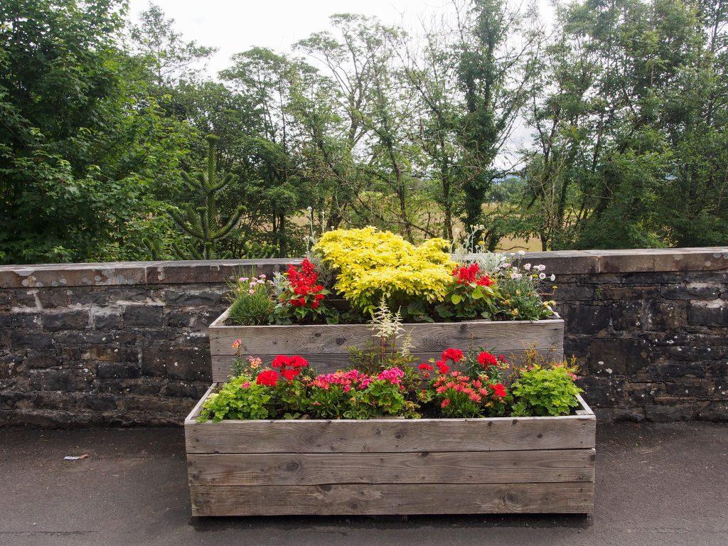 Flower boxes in Llanwrtyd Wells